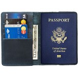 | Durable Leather Passport Holder Handmade by Hide & Drink Slate Blue | Passport Covers B072L3KSK7