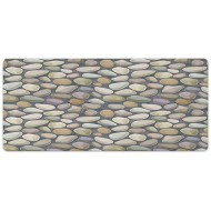 AmaUncle Desk Pad Office Desktop Protector Cobblestone Pebble Stonewall Graphic Rubber Desk Mat Blotters Organizer with Comfortable Writing Surface W35.4 x L15.7 AM008103 Office Products B08GWY57VC
