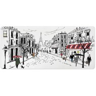 AmaUncle Desk Pad Office Desktop Protector Paris Decor Illustration of Old French Rubber Desk Mat Blotters Organizer with Comfortable Writing Surface W23.6 x L11.8 AM025932 Office Products B08GS8QGTP