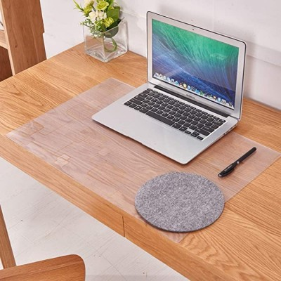 Clear PVC Office Desk Pad Frosted Waterproof Desk Protector Mat Soft Round Edge Non Slip Keyboard Mat for Office Home Office Products B08HJ4TVZD