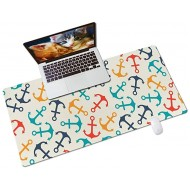 Colorful Star PU Leather Desk Pad Office Desk Mat - 31.5 x 15.7 Desk Blotter Protector for Desktop & Laptop - Non-Slip Large Keyboard and Mouse Pad for Gaming Office & Home - Colored Anchors Office Products B08JLT1BZV