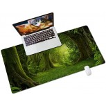 Colorful Star PU Leather Desk Pad for Keyboard and Mouse - 31.5 x 15.7 Full Desk Mouse Pad Large Gaming Pad Desktop Mat Non-Slip Desk Blotter Pad for Office & Home - Green Jungle Office Products B08JLY9HYF