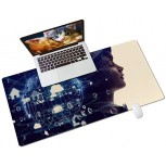 Colorful Star PU Leather Desk Pad for Keyboard and Mouse - 31.5 x 15.7 Full Desk Mouse Pad Large Gaming Pad Desktop Mat Non-Slip Desk Blotter Pad for Office & Home - Internet Communication Concept Office Products B08JLYTYJ2
