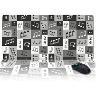 Desk Pad Office Desk Mat 35x15INCH Oversized Soft Writing Pad Music Waterproof Desk Protector Office Desk Mat Gamer Mouse Keyboard Pad Office Products B087RCRNW5