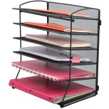 Easepres 6-Tier Mesh Desktop File Organizer Document Letter Tray Holder for Office or Home Black Office Products B07CCKY3HG