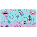Girly Pastel Witch Goth Multifunctional Desk Pad Thin Waterproof Large Gaming Mouse Pad Desk Blotter Protector Non-Slip Rubber Base Desk Writing Mat for Office and Home Office Products B08GLZSBF5