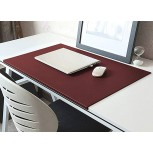 K-Flame Desk pad with Edge Protection Scratch-Resistant PU Leather Table pad Waterproof Desk Protection Non-Slip Mouse pad Office Writing mat-90x50cm red Office Products B08G8HWVR3