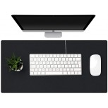 KINGFOM Desk Pad Office Desktop Protector 35.4 x 16.9 PU Leather Desk Mat Blotters Organizer with Comfortable Writing Surface Black Office Products B081YXP1T2
