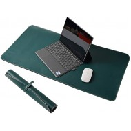 LIZIMANDU Desk Pad 31.5 x 15.7 Waterproof Leather Office Desk Mat PU Mouse Pad Desk Cover Protector Desk Writing Mat for Office Home Work Cubicle1 Pack 1-Dark Green Office Products B088QX86R9