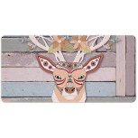 Laptop Desk Mat Office Desk Pad Antler Deer Head Illustration Fawn Pattern Desk Mats on Top of Desks Large Desk Pad Protector for Office Work Home Decor 12 X 24 inches Office Products B08H22LPGJ