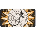 Laptop Desk Mat Office Desk Pad Golden Circle Sun Illustration Symbol Graphics Desk Mats on Top of Desks Large Desk Pad Protector for Office Work Home Decor 12 X 24 inches Office Products B08H224NZ2