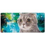 Laptop Desk Mat Office Desk Pad Green Space Illustration with Outer Space Cat Desk Mats on Top of Desks Large Desk Pad Protector for Office Work Home Decor 16 X 35 inches Office Products B08H22RRSZ