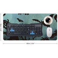 Laptop Desk Mat Office Desk Pad Halloween Night Moon Animals and Black Pumpkin Desk Mats on Top of Desks Large Desk Pad Protector for Office Work Home Decor 12 X 24 Office Products B08KD7ZVF5