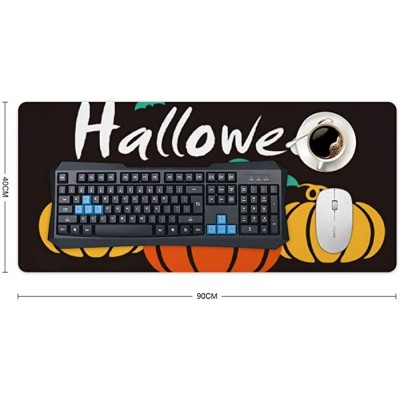 Laptop Desk Mat Office Desk Pad Happy Halloween Colorful Pumpkin and Birds Desk Mats on Top of Desks Large Desk Pad Protector for Office Work Home Decor 16 X 35 Office Products B08KCYP32Y