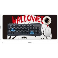 Laptop Desk Mat Office Desk Pad Happy Halloween Dark Pumpkin and Birds Desk Mats on Top of Desks Large Desk Pad Protector for Office Work Home Decor 16 X 35 Office Products B08KDB89S4