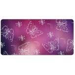 Laptop Desk Mat Office Desk Pad Purple Butterfly Pattern Design Graphic Design Desk Mats on Top of Desks Large Desk Pad Protector for Office Work Home Decor 12 X 24 inches Office Products B08H22BYL4