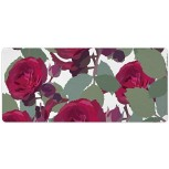 Laptop Desk Mat Office Desk Pad Red Rose Flower Cluster Flowering Plant Petal Desk Mats on Top of Desks Large Desk Pad Protector for Office Work Home Decor 16 X 35 inches Office Products B08H24MPFC