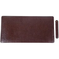 Leather Desk Mat Protector Pad | Premium PU Leather Desk Pad Blotter | Use as Stylish Computer Mouse Pad Accessory or Comfortable Writing Surface for Office Home 24 x 12 Brown Office Products B07MKJZ6D4