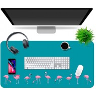 Multipurpose Office Desk Pad and Computer Desk Mat - Waterproof Office Desk Mat and Desk Blotter Pad - Home Office Accessories Large 35.5 x 17.5 Flamingos Office Products B07WQQ4MFR