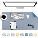 Non-Slip Desk Pad Waterproof PVC Leather Desk Table Protector Ultra Thin Large Mouse Pad Easy Clean Laptop Desk Writing Mat for Office Work Home Decor Blue 31.5 x 15.7 Office Products B08F215Z71