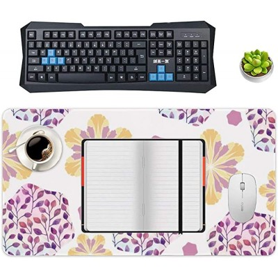 Non-Slip Locking Table Mat Waterproof Soft Desk Writing Pad Laptop Computer Desk Table Protector for Office and Home Purple Line Pattern Joining Together Decor Desk Accessories Office Products B08JZ27363