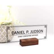 Personalized Desk nameplate Desk Decor Men Office Acrylic Holder Office Supply Acrylic Sign Coworker Gift Teacher Secretary - Men Wood Holder 8x3 Office Products B08HKXGKWH