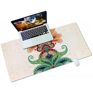 QIYI Desk Pad PU Leather Desk Blotter Protector Waterproof Computer Desk Mat Keyboard Mouse Pads Non Slip Base Home & Office Accessories Extended Large Size 31.5 x 15.7 - Floral Pattern Banner Office Products B08JLXMR2K
