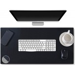 Xinfull Dual-Sided Multifunctional Office Desk Pad Waterproof PU Leather Laptop Mouse Pad Desk Blotter Protector Large Desk Writing Mat for Office Home 31.5 x 15.7 Black Grey Office Products B087GFQF9F