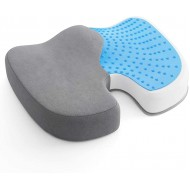 AMERIERGO Seat Cushion Comfortable Gel-Enhanced Seat Pillow for Office Chair Car Seat Non-Slip Desk Chair Cushion with Memory Foam for Sciatica Coccyx Tailbone Pain & Back Pain Relief Grey Office Products B089Y7LR7M