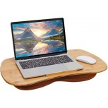 Bamboo Lap Desk with Tablet Slot Pillow Cushioned Laptop Accessories Book Stand Office Products B087R32YZB