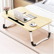 Foldable Bed Tray Lap Desk Portable Lap Desk with Phone Slots Notebook Table Dorm Desk Small Desk Folding Small Dormitory Table Perfect for Watching Movie on Bed Or As Personal Dinning Table Office Products B07RXR3MZX