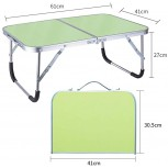 Foldable Computer Desk Portable Desk Bed Dormitory Bedroom Office Artifact Lazy to Go Out It Can Be Used for Storing Objects 60x40x27cm Color Green Office Products B083J9WJ15