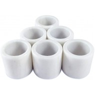LUHOM LUJOSO HOGAR MEXICO Set of 6 round-shaped napkin rings made of natural marble in Bego White Office Products B0893ZBPKX