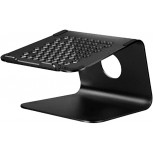 Laptop Stands Office Computer Desktop Heightening Rack with Heat Dissipation Holes Riser Suitable for Laptops 11-17 Inches Color Black Size 24.5cm Office Products B08C4VST1D