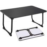 Laptop desk for bed bed desk Portable Laptop Bed Tray Table Notebook Stand Reading Holder with Foldable Legs for Eating Breakfast Reading Book Watching Movie on Bed Couch Sofa Black bed desk Office Products B08DNNSCZR
