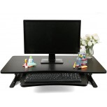 Mind Reader SDPATENT-BLK Home Office Standing Desk with Keyboard Storage Black Office Products B079KDLX2M