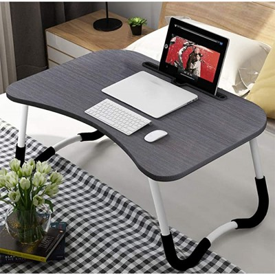 OPPIS Laptop Desk Bed Tray Foldable Lap Desk Bed Table for Breakfast Serving Notebook Table with Tablet Slots for Couch Floor for Adults Students Kids - Black Office Products B083R747ZZ