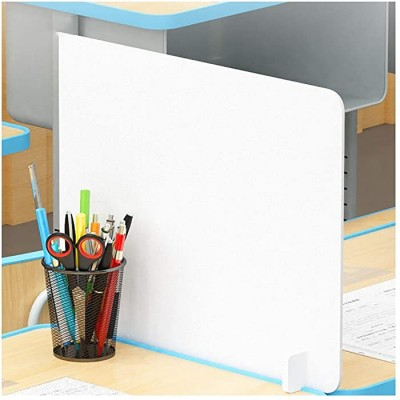 Student Desk Whiteboard Desktop Panel Personal Protective Shield Sneeze Guard Desk Isolation Board for Classrooms Cafeterias Offices Dining Room Size 19.711.8inch Office Products B08GSLTY42