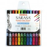 Sarasa Stick Porous Point Pen Fine 0.8mm Assorted Ink/Barrel PK12 ZO42746657