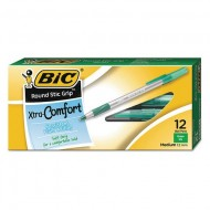Stick Ballpoint Pen Medium 1.2 mm Green PK12 ZO34575882
