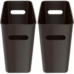 - iTouchless SlimGiant 4.2 Gallon 13.4 High Narrow Space Slim Trash Can with Handles 2-Pack 16 L Plastic Small Wastebasket Garbage Bin Storage Container Home Office Bathroom Kitchen Mocha Black - B08KHRZTS7