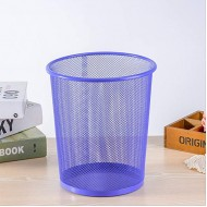 Barbed Wire Trash Can Metal Mesh Waste Paper Basket Office Household Paper Basket Round Cleaning Bucket Trash Can Office Products B08GCVXSDZ