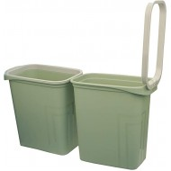Besli 2 Gallon Small Trash Can Wastebasket Pack of 2 Green 2 Gallon Office Products B08B4DB2Q6