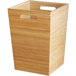 Carl Artbay Bamboo Wood Rubbish Waste Paper Bin Cube Shape Rubbish Bin for Kitchen Home Office Floor Natural Household Products Office Products B07RS9PSLF