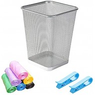 Cupcinu Creative Mesh Trash Can Home Waste-Paper Basket Garbage Can Waste Bin Wastebaskets 3 Set of Trash Can + Garbage Bag + Garbage Bag Fixing Clip for Home Office Hotel Corridor Office Products B07VTMWQ3J