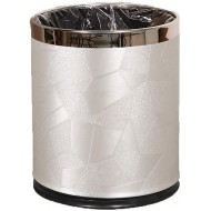 DBZG 10 Liter Round Metal Small 2.6 Gallon Trash Can Wastebasket Garbage Container Bin for Bathrooms Powder Rooms Kitchens Home Offices - Durable Stainless Steel Color E Office Products B085VKDRSC