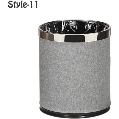 DIDI Dustbins Round Metal Small Trash Can Wastebasket Garbage Container Bin for Bathrooms Powder Rooms Kitchens Home Offices,10L 2.6 Gallons Waste Storage Bins Color Style-11 Office Products B08GZR4WJH
