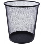 Dsxnklnd Metal Mesh Waste Basket Round Trash Can Recycling Bin Office Tools Supplies Black Office Products B082B6N5NV