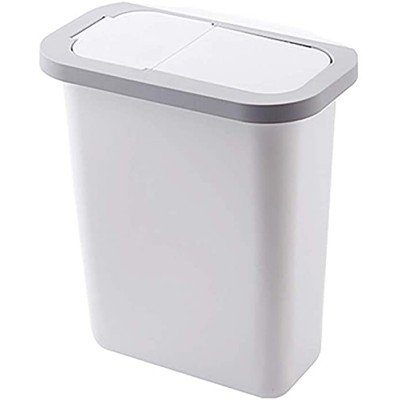 GAKIN 1 Pc Wastebasket Trash Can Plastic Storage Office Garbage Bin with Lid Office Products B08JQ9FGS6