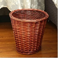 GWW Round Wicker Wastebasket Handwoven Waste Paper Bin Whitout Lid Rattan Rubbish Bin for Bedroom Kitchen Bathroom Office-a 18x28x28cm7x11x11inch Office Products B087GHSHJM